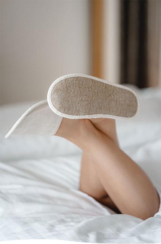 Plastic free slippers